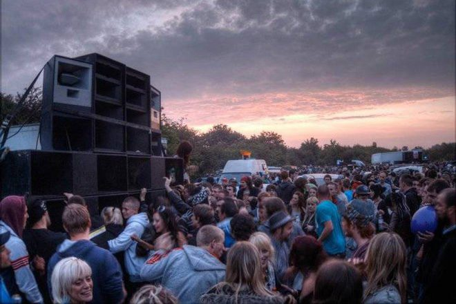 Villagers are fuming about being kept awake by a three-day rave