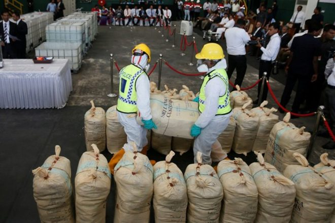 $108 million worth of cocaine has been seized in Sri Lanka